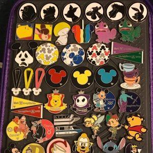 Disney Hidden Mickey Pin Lot Of 50 Pins